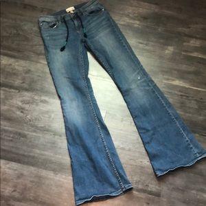 Roxy Drawstring Flare Jeans